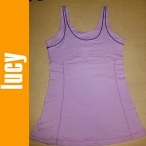 Lucy Activewear Stretch Power Yoga Purple Tank Top